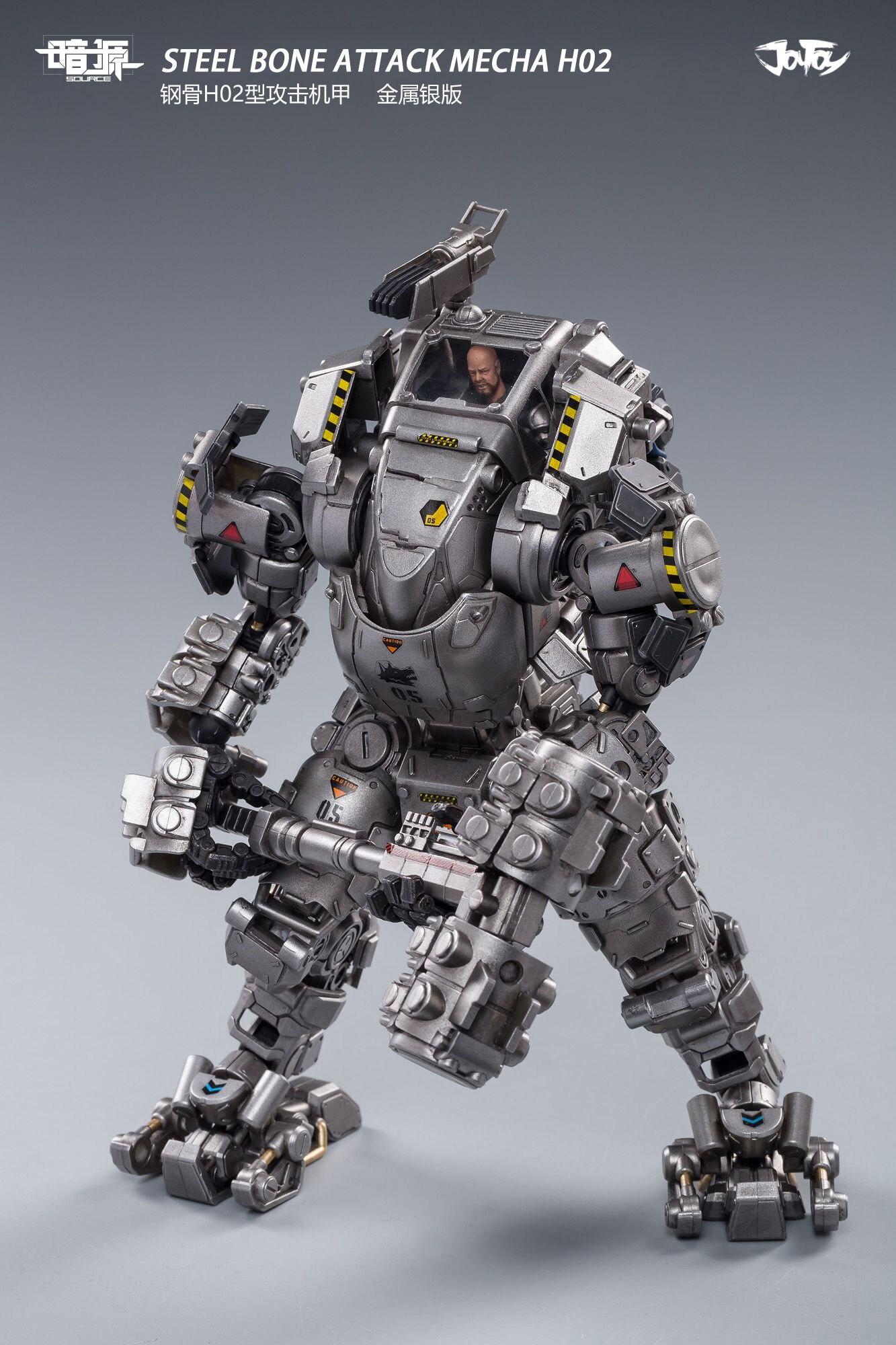 25 figura de ação robô aço armadura