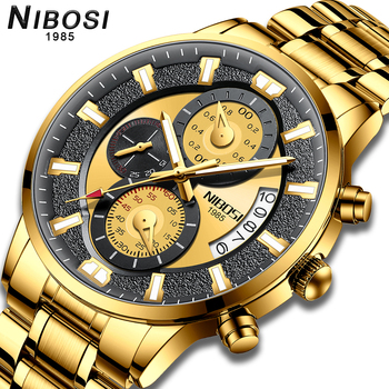 NIBOSI 2020 New Fashion mens Watches with Stainless Steel Top Brand Luxury Sports Chronograph Quartz Watch Men Relogio Masculino - discount item  80% OFF Men's Watches