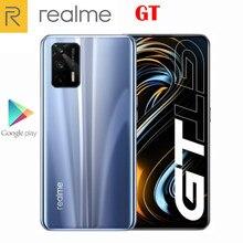 Orijinal resmi yeni Realme GT 5G Smartphone 6.43 inç 120Hz süper AMOLED Snapdragon 888 Octa çekirdek 4500Mah 65W flaş şarj 64MP