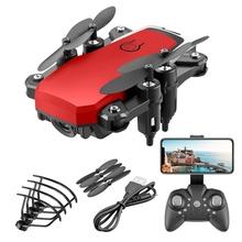 HD Drone 4K kamera Quadcopter składane Mini Dron Profissional Drone kamery Wifi FPV zdalnie sterowane drony helikoptery zabawki dla dzieci prezenty tanie tanio Z tworzywa sztucznego Metal 3*AAA Battery (Not Included) 11*11*3 5cm Silnik szczotki Pilot zdalnego sterowania Kabel usb