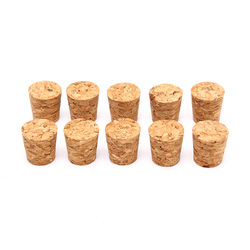 10Pcs Tapered Wine Cork Natural Wood Corks Sealing Wine Stopper Bottle Cover Reusable For Bottles Wine