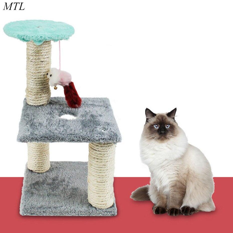 MTL Cat Scratcher Tree Climber Jumping Toy Climbing Frame Furniture Scratching
