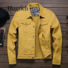 Spring Autumn 2020 Red white Black Yellow army green Jeans Jacket Men Slim Streetwear Denim Jacket Hip Hop Bomber Jacket Homme