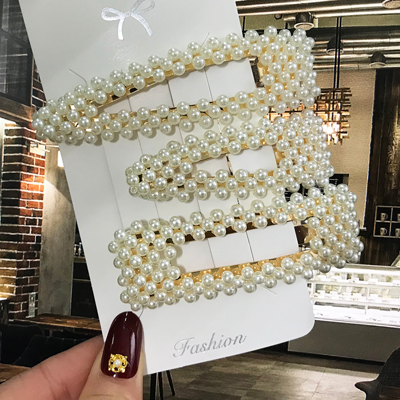 Pearl Hair Clip Barrettes For Women Girl 2020 Elegant Acrylic Hairpins Hairgrips Headwear Hair Jewelry Hairgrip Hair Accessories
