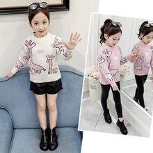 Cute Kids Giraffe Sweater for Girl Baby Children Autumn Knitting Sweaters Boy Clothes Fashion Toddler Knitwear Tops