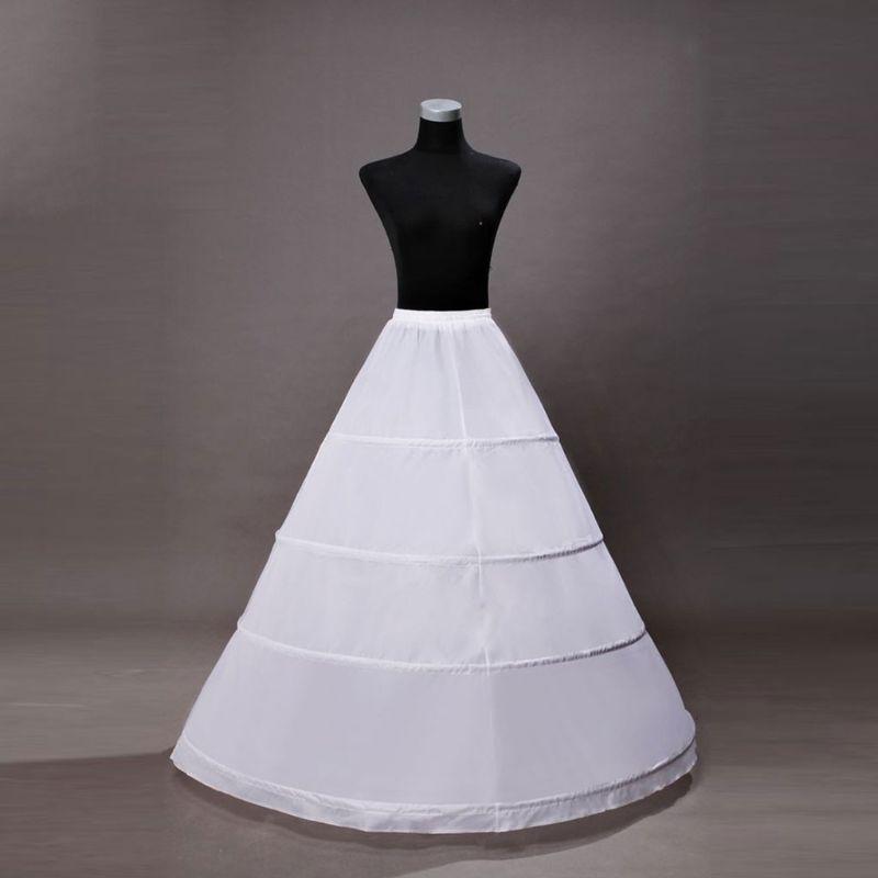 Bride Wedding Dress Hoops Skirt Support Lady Girls Party Prom Ball Dress Inner Substrate Petticoat Long Underskirt