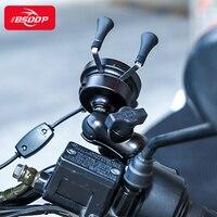 Suporte do telefone da motocicleta qi sem fio + usb com fio porta carregador de carga rápida suporte do telefone para benenlli aprilia piaggio ducati yamaha