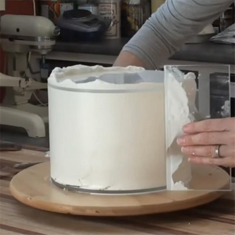 Acrylic Cake Scraper Smoother Adjustable Fondant Spatulas Cake Edge Smoother Cream Decorating DIY Kitchen Cake Tool