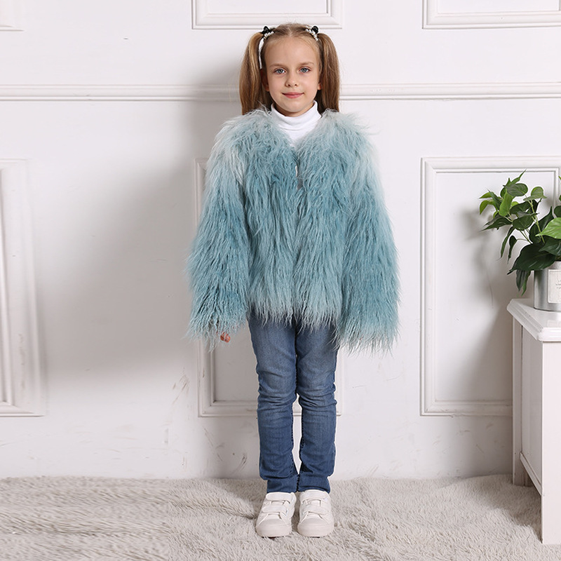 Babyinstar Baby Girls Winter Coats Fashionable Wool & Blends For Kids Patchwork Mesh Toddler Children's Long Sleeve Outwear