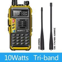 BaoFeng UV-S9 زائد ثلاثي الفرقة 10 واط 2 قطعة هوائي VHF UHF 136-174 ميجا هرتز/220-225 ميجا هرتز/400-520 ميجا هرتز عالية الطاقة الهواة هام المحمولة CB راديو