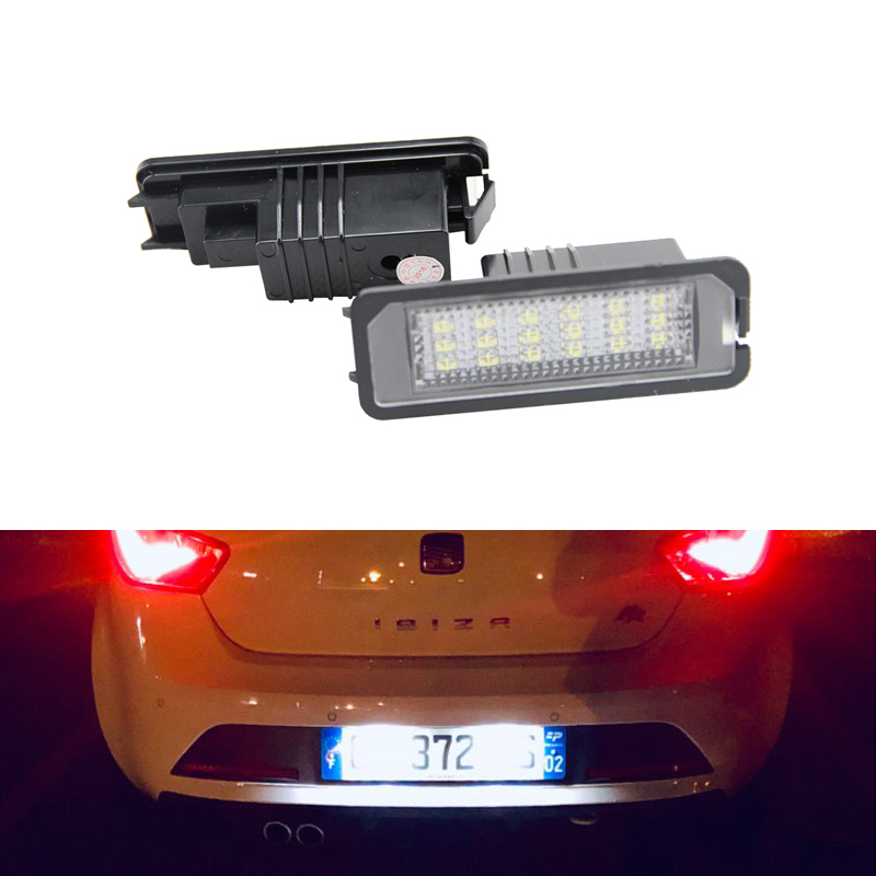 For SEAT Ibiza FR Cupra MK4 6J Altea XL SMD Error Free Led License Plate Lights Lamp