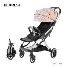 Dearest A10 Light Weight Baby Stroller pram 2 in 1 With 4 Bi