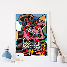 The Kiss By Picasso Wall Art Canvas Posters Prints Abstract Painting Oil Wall Pictures For Living Room Home Decor Accessories HD