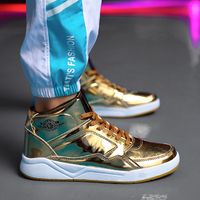 New AJ1 Men Basketball Shoes Patent Leather Sneakers Outdoor Sport Shoes Trainers Zapatillas Hombre Jordan Basketball Boots Gold