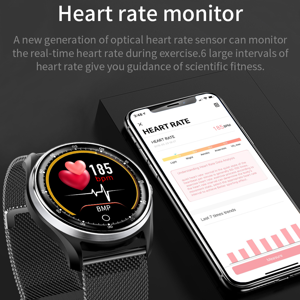 LYKRY Smart Watch for Men PPG ECG IP68 Waterproof Heart Rate watch Blood Pressure Sport Smartwatch For Android IOS PK N58 Q9 in Smart Wristbands from Consumer Electronics