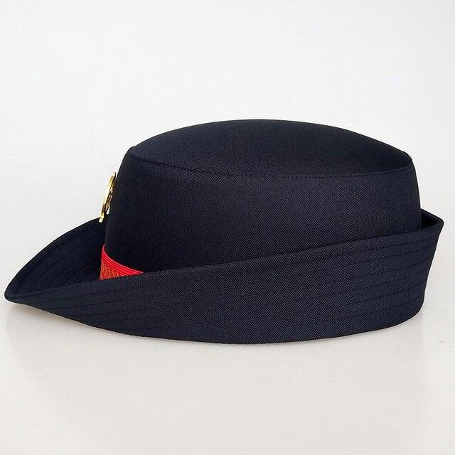 Casquette duniforme pour femmes | Bandeau pour femmes, chapeaux de voyage en Camping et en plein air, chapeau Cospaly de Performance sur scène, casquette dassistant de vol ferroviaire