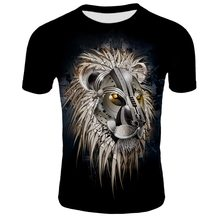 Summer 2020 3D printed men's T-shirt O-neck short sleeve 3D printed animal lion 3D printed T-shirt men's T-shirt for men and wom