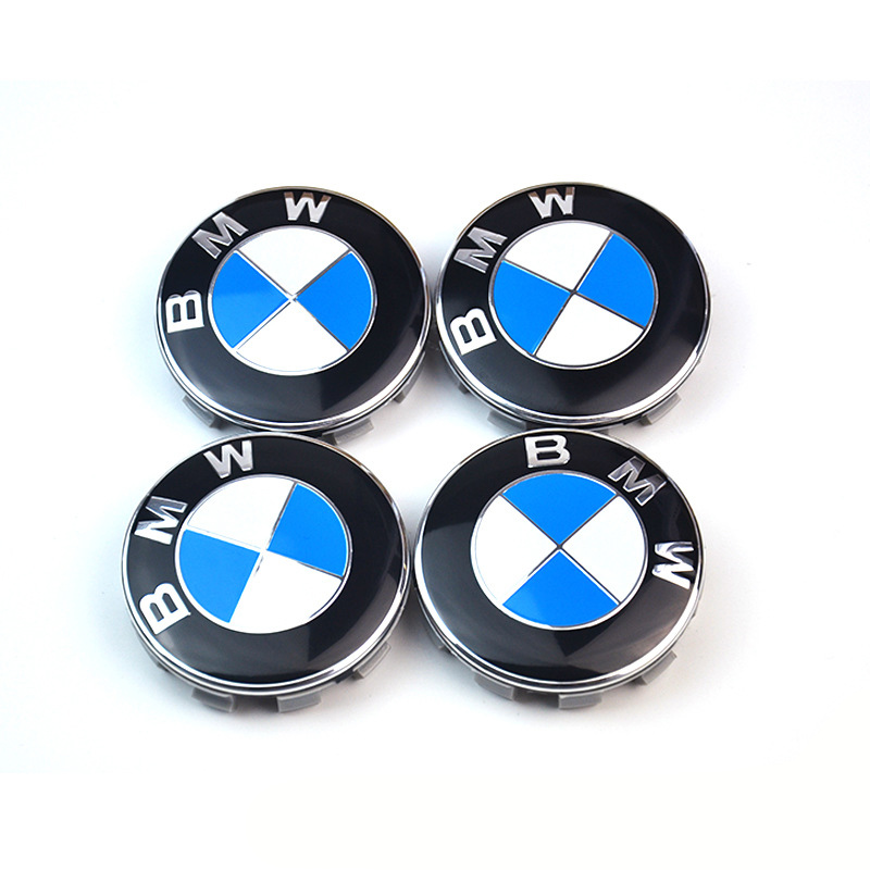 4 PCS 68mm Car Emblem Badge Sticker Wheel Centre Caps Hubcap Sticker For BMW X1 X3 X5 X6 M3 M5 M6 E39 E90 E60 E36 Car Styling