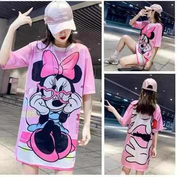 16 Colors Beautiful  New Spring Summer Film Pink Mickey T-shirt Printing Mesh Female Thai Popular Speed Dry Ice Silk Women Tops - DISCOUNT ITEM  15% OFF All Category