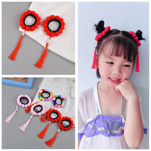 1pair Multi Color style Girl Hair Clips Chinese Traditional Princess Tassels Beads with Tassel Hairpins Kids Hair Accessories