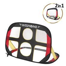 цена WISHOME Foldable Soccer Goals for Backyard Kids Soccer Net Pop Up Portable Football Goal with Carrying Bag Outdoor Indoor Toy онлайн в 2017 году