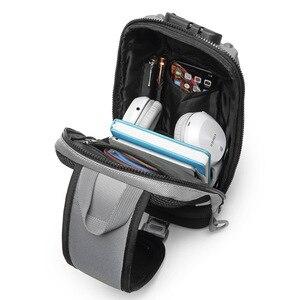 """Image 4 - OZUKO תיק כתף גברים USB עמיד למים שליח תיק חבילת חזה נגד גניבת נעילת Crossbody שקיות לגברים קלע תיק fit 9.7 """"iPad"""