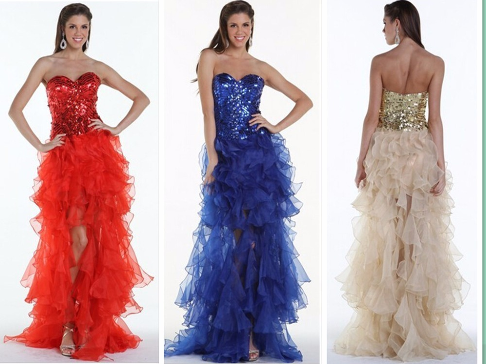 Free Shipping Party Gown 2018 Vestido De Festa Sweetheart Long Sequined Organza Ruffles Crystal Sexy Prom Bridesmaid Dresses