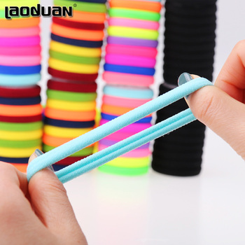 20pcs lot Candy Fluorescence Colored Hair Holders High Quality Rubber Bands Hair Elastics Accessories Girl Women