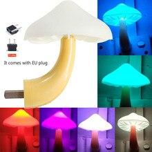 Luminária led inteligente com controle de cogumelo, luz noturna para crianças, minilâmpada de parede, decoração de quarto infantil