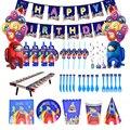 Из нас, украшение для дня рождения, товары для игр, Подарочный пакет, воздушный шар для вечеринки, мультяшная одноразовая посуда, украшение д...