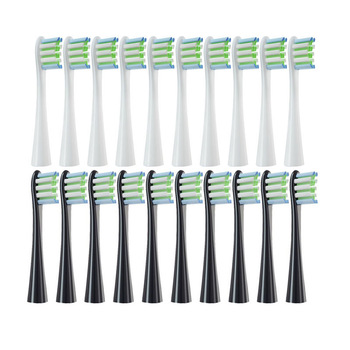 Replacement Brush Heads for Oclean X/ X PRO/ Z1/ F1/ One/ Air 2 /SE Sonic Electric Toothbrush Soft DuPont Bristle Nozzles 10 Pcs 1