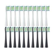 Cabeças de escova de substituição para oclean x/x pro/z1/f1/um/ar 2/se sonic escova de dentes elétrica macio dupont bicos de cerdas 10 peças