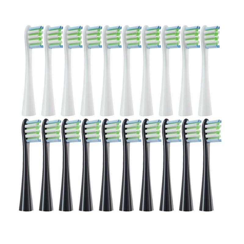 Wymienne główki do szczoteczki do Oclean X/ X PRO/ Z1/ F1//Air 2 /SE elektryczna soniczna szczoteczka do zębów miękkie włosie DuPont dysze 10 sztuk