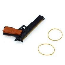 Clássico conjunto de borracha banda arma atirador tiro crianças brinquedos portátil e06f
