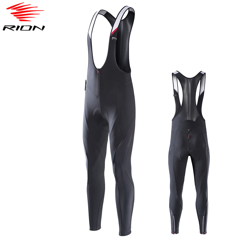 RION Mens Cycling Pants 2020 Spring Warm Thermal Cycling Bib Tights MTB Mountain Road Bike Pants Bretelle Ciclismo|Cycling Pants| |  - title=