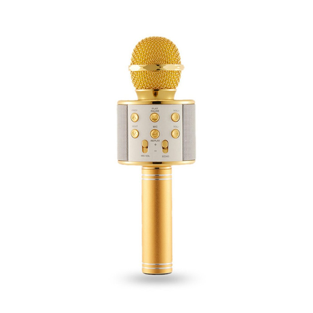 Bluetooth Wireless Karaoke Microphone Portable Mini Home KTV For Music Playing And Singing Speaker Player Selfie PHONE PC