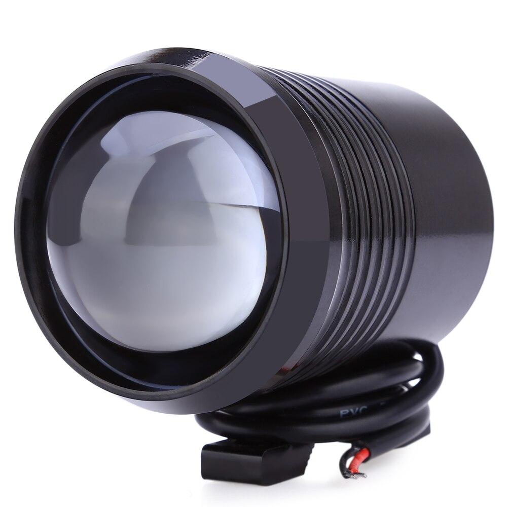 2 PCS Motorcycle Headlight U2 1200LM 30W High Low Flash LED Driving Spot Head Bulb Light Lamp Headlight Black Silver