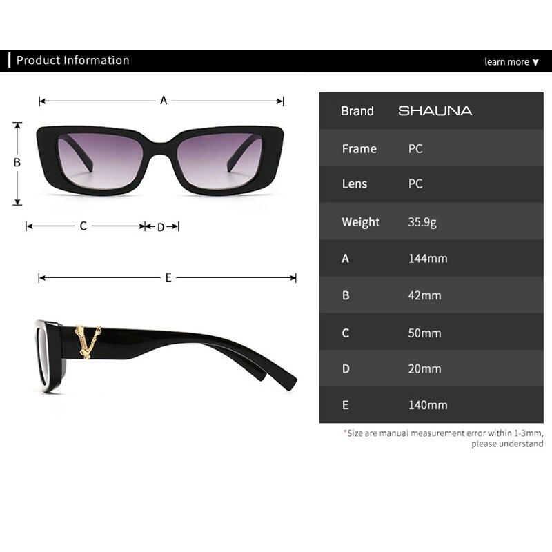 Retro Small Rectangle Sunglasses Candy Colors Gradient Sun Glasses Shades UV400 4