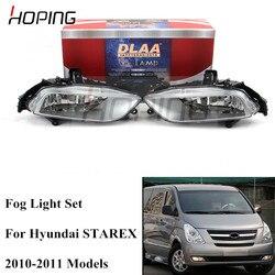 Esperando conjunto completo para Hyundai MPV H-1 Wagon H1 Starex 2010 2011 luz antiniebla del parachoques delantero lámpara antiniebla Assemably con bombilla halógena Eires