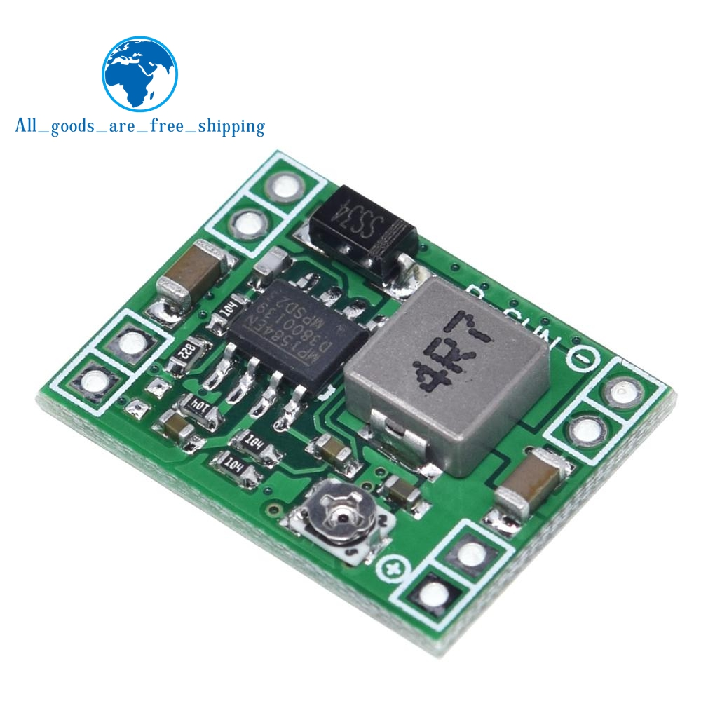TZT Ultra-Small Size DC-DC Step Down Power Supply Module MP1584EN 3A Adjustable Buck Converter For Arduino Replace LM2596