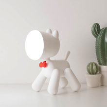 Creative Led Desktop Lamp Charging With Cartoon Ins Style For Variable Dogs  Usb Night Three-way Dimming Lovely Gife Kids Light