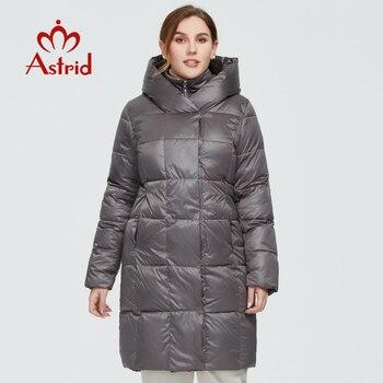Astrid 2020 delle Nuove donne di Inverno cappotto lungo delle donne parka caldo Plaid di modo Giacca con cappuccio di grandi dimensioni abbigliamento femminile AR-6735 1
