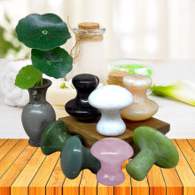 Rose Quartz Mushroom Foot Massage Stone Crystal Jade Facial Body Thin Anti-wrinkle Relaxation
