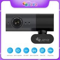 JZYZ Webcam 1080P Volle HD Web Kamera Mit Doppel Mikrofon und Gebaut in Lautsprecher Autofokus 30FPS Mini Web Kamera unterstützung PC Mac