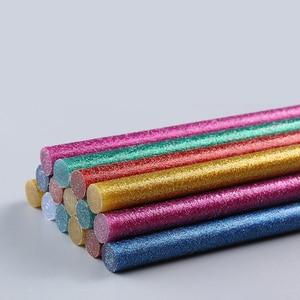Barra de pegamento de Color 20 piezas flash de alta viscosidad polvo de cebolleta adhesivo termofusible 7mm / 11mm producción manual universal de bricolaje