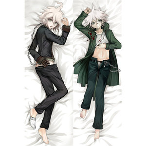 Anime Danganronpa pillow Covers Dakimakura case Cool boy Naegi Makoto 3D Double-sided Bedding Hugging Body pillowcase DM02(China)