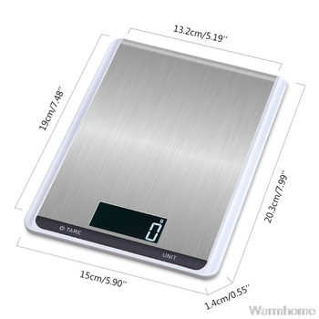5/10kg Household Kitchen Scale Electronic Food Scales Diet Scales Measuring Tool LCD Digital Weighing Scale g,oz,lb,kg, Au10 20