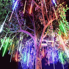 50CM LED Meteor Shower Rain Outdoor Waterproof 8 Tube Light String For Valentines Day  Wedding Christmas Tree Ornaments