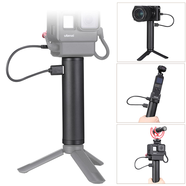 Ulanzi BG 2 6800mAH Handle Grip Power Stick for Gopro 8 7 Osmo Pocket Action Action Camera Handgrip Stick Vlog Grip Power Stick