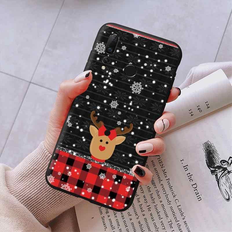 عيد الميلاد حافظة لهاتف Huawei P20 P30 P8 P9 P10 زميله 10 20 30 لايت برو 2017 نوفا 3 3i 4 P الذكية 2019 غطاء من البولي يوريثان الحراري لهواوي P20 لايت